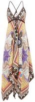 Etro Printed Silk-twill Dress - Womens - White Multi