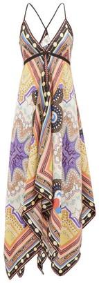 Etro Printed Silk-twill Dress - White Multi