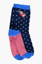 Boohoo Kara Polka Dot Robin Ankle Socks