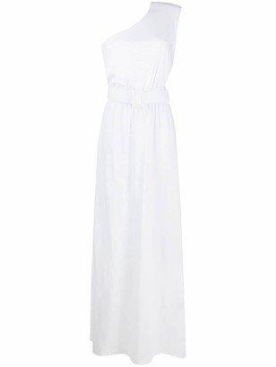 FEDERICA TOSI One-Shoulder Belted Long Dress