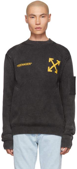 4451ea7de444c0 Off-White Black Men's Sweaters - ShopStyle