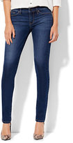 New York & Co. Soho Jeans - Mid Rise Skinny - Force Blue Wash - Petite