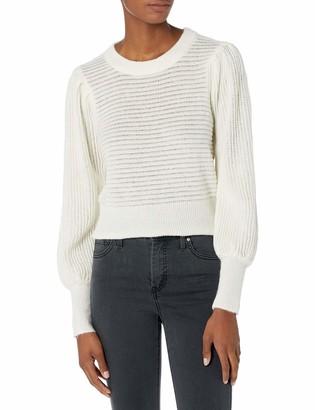 ASTR the Label Women's Alice Puff Sleeve Mock Neck Sweater