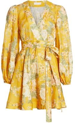 Zimmermann Amelie Floral Wrap Dress