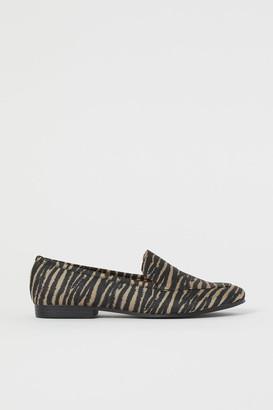H&M Jacquard-patterned Loafers - Black