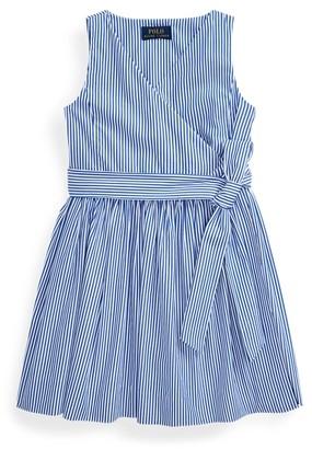 Ralph Lauren Striped Cotton Wrap Dress