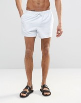 Asos Swim Shorts In Ice Blue Short Length