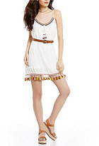 Band of Gypsies Tassel Trim Shift Dress