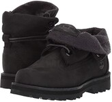 Timberland Kids Courma Roll Top Boot (Toddler/Little Kid) (Black Nubuck) Kid's Shoes
