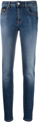 Just Cavalli Stonewashed Skinny Jeans
