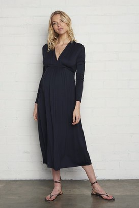 Maternity Long Sleeve Mid-Length Caftan