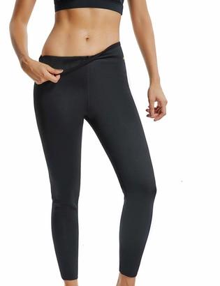 RIOJOY Hot Shaper Capris for Women Sweating Bodyshaper Leggings Neoprene Thermal Sweat Sauna Pants Slimming Workout Trousers for Weight Loss