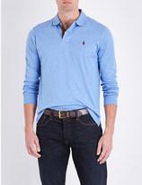 Polo Ralph Lauren Slim-fit stepped hem cotton-jersey polo shirt