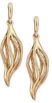 Oscar de la Renta Golden Lily Drop Earrings