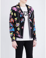 Moschino Embroidered Cotton Jacket