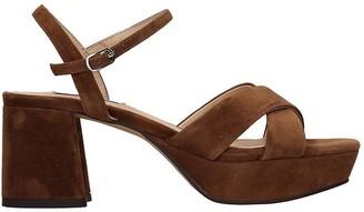 Bibi Lou Sandals In Brown Suede
