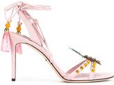 Dolce & Gabbana pineapple pom pom tassel sandals