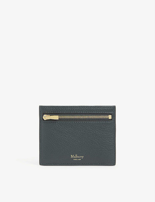 Mulberry Grained leather zipped card holder