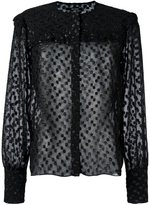 Isabel Marant 'Airy' semi-sheer blouse - women - Polyester - 34