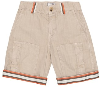 BRUNELLO CUCINELLI KIDS Exclusive to Mytheresa Cotton-gabardine Bermuda shorts
