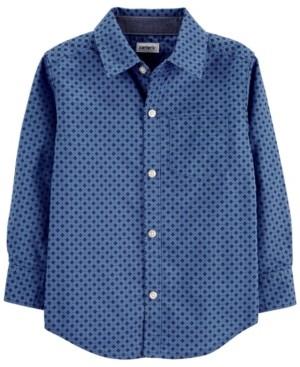 Carter's Toddler Boy Poplin Button-Front Shirt
