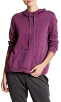 Steve Madden Distressed Fleece Crossback Hoodie