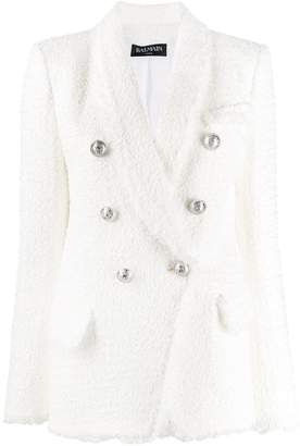 Balmain textured blazer jacket