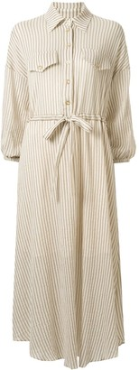 Ginger & Smart Chateau striped shirt dress