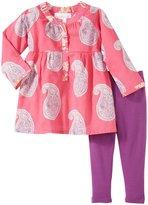 Masala Muni Big Paisley 2 Piece Set (Baby) - Pink-6-12 Months