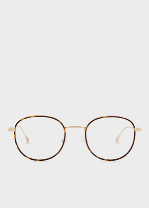 Paul Smith Shiny Gold 'Drury' Spectacles