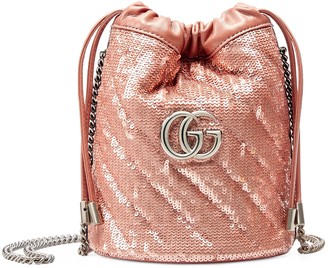 Gucci GG Marmont mini sequin bucket bag
