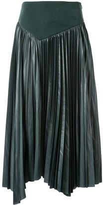 Muller of Yoshio Kubo Asymmetric Pleated Skirt
