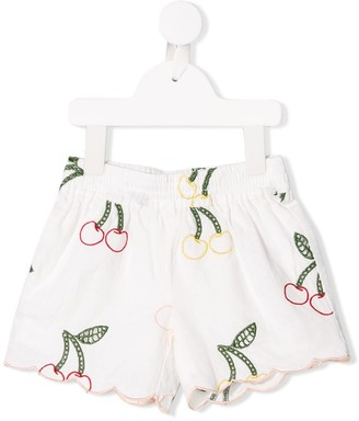 Stella Mccartney Kids Cherry Embroidered Shorts