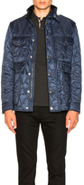 Burberry Quilted Field Jacket in Blue.