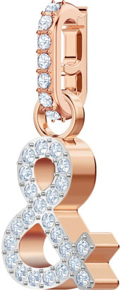 Swarovski Remix Collection & Charm - White - Rose-gold Tone Plated Dusty