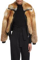 A.L.C. Boyce Fox Fur Bomber Jacket