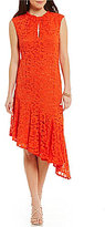 Trina Turk trina by Paz Sleeveless Asymmetrical Hem Lace Dress