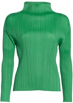 Pleats Please Issey Miyake Monthly Colors Mockneck Top