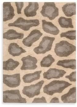 Nourison Splendor 7-Foot 6-Inch x 9-Foot 6-Inch Room Rug in Beige Leopard Print