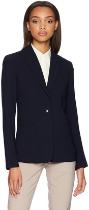 Elie Tahari Women's Fluid Crepe Business Casual Wendy Jacket