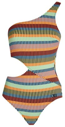 Solid & Striped Claudia One-Shoulder Swimsuit