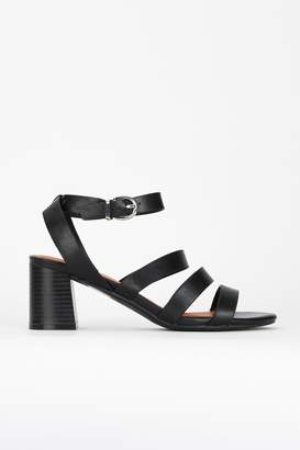 Wallis Black Strappy Block Heel Sandal