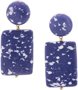 Lele Sadoughi marble effect post earrings