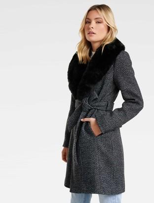 Ever New Jane Fur Collar Coat