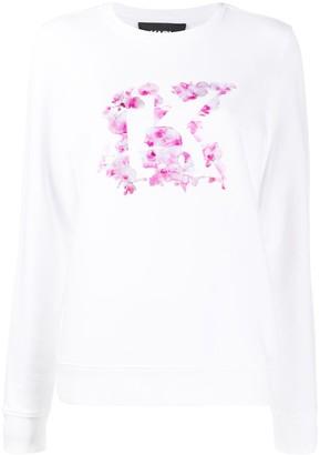 Karl Lagerfeld Paris Orchid K crew neck sweatshirt