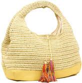 Magid Straw Shoulder Bag With Tassel Detail