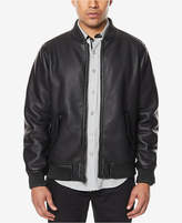 Sean John Men's Faux Leather Bomber Jacket, Created for Macy's