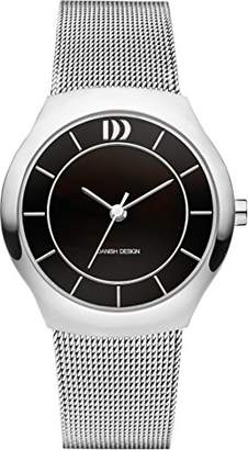 Danish Designs Danish Design Women's Quartz Watch with Black Dial Analogue Display and Silver Stainless Steel Bangle DZ120518