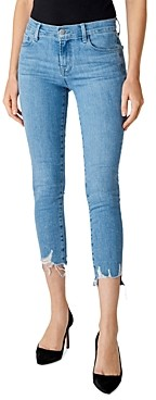 J Brand 835 Mid-Rise Cropped Skinny Jeans in Cloudy Destruct