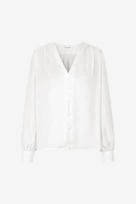 Samsoe & Samsoe Whisper White 12770 Jetta Shirt - M | polyester | white - White/White